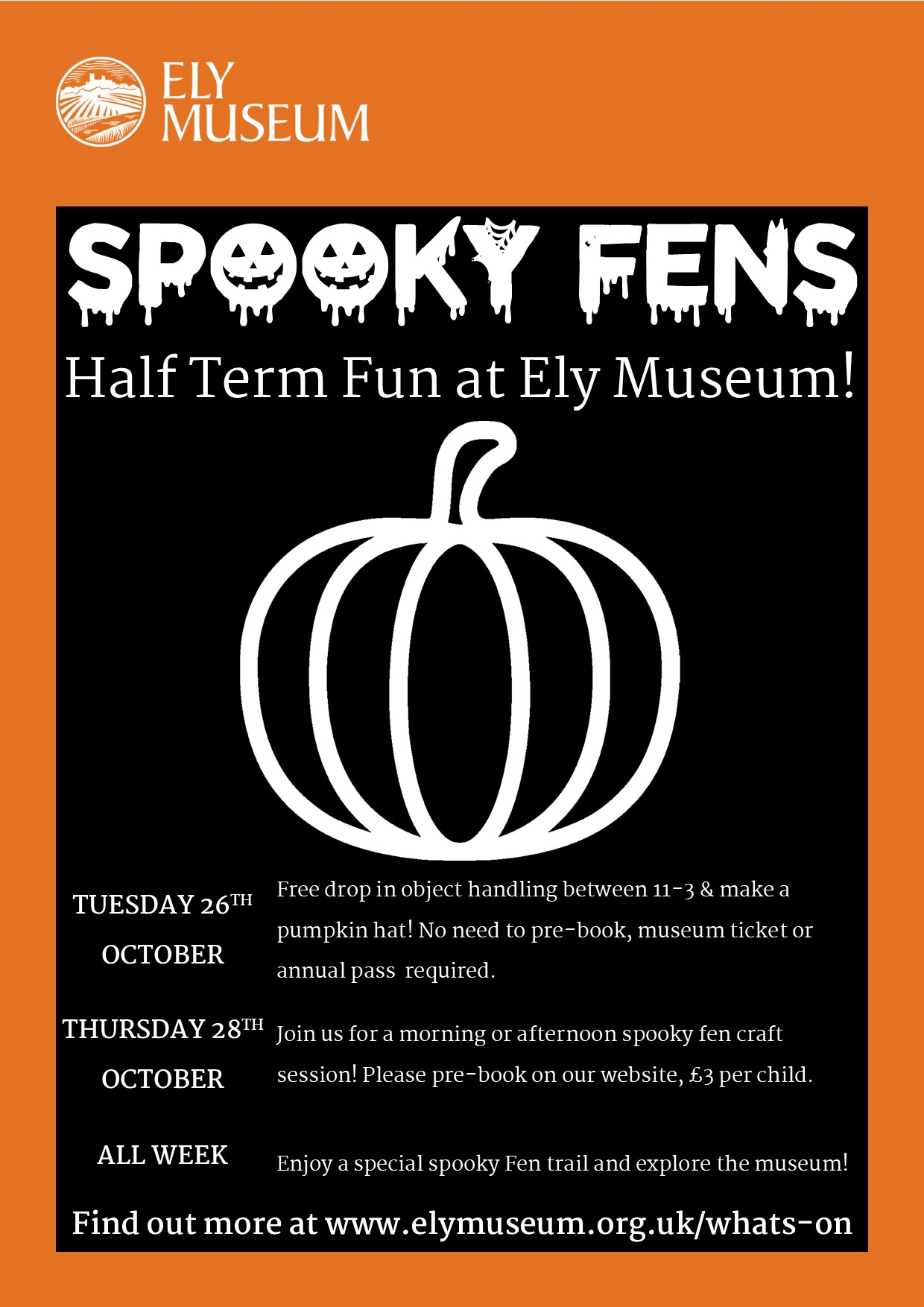 Halloween at Ely Museum